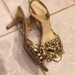 Kate Spade Gold Heels Size 7B